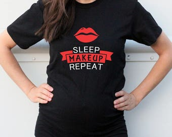Sleep Make Up Repeat Women's T-shirt - Red Lips Fashion T-Shirt - Nice T-Shirt for Her - Gift for Her