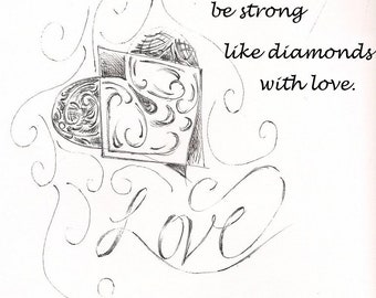 Love and Diamonds Digital Prints