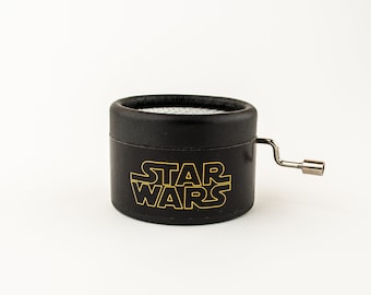Star Wars black music box, the perfect gift for fans, hand cranked music box movement