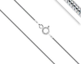Snake - chain silver Serpentine - Womens - men silver silver chain - chain silver 60 cm