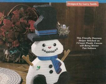 Snowman Doorstop Plastic Canvas Book