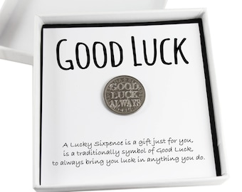 Lucky Sixpence Keepsake Gift,  Good Luck Present, Lucky Coin, Leaving Job Gift, New Job Gift