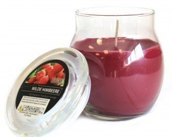 Scented Candle in the glass, wild raspberry