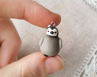 Emperor Penguin Baby necklace, animal totem, animal necklace, penguin pendant, bird necklace, winter jewelry, penguin jewelry, miniatures