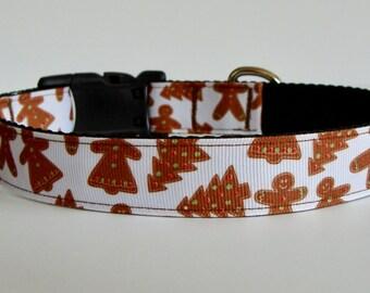 READY TO SHIP! Christmas Dog Collar Gingerbread