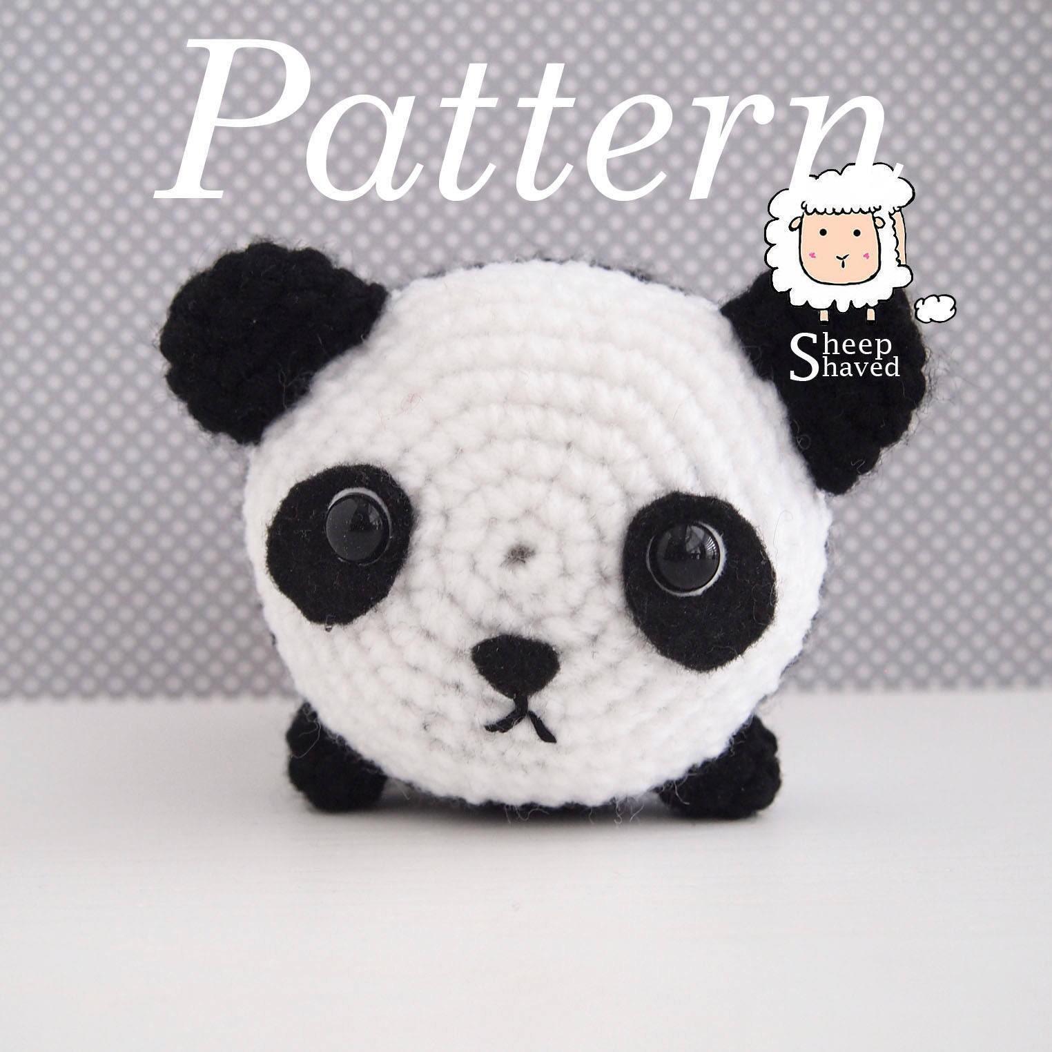 Crochet Panda Tsum Tsum Pattern