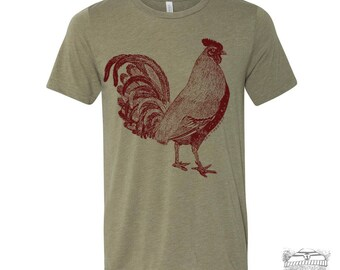 Mens Urban ROOSTER T-Shirt s m l xl xxl (+ Color Options) zen threads hand screen printed custom