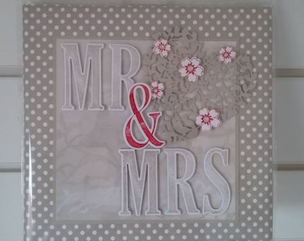 Mr & Mrs personalised canvas board