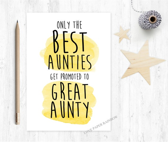 you're going to be a great aunty only the best aunties get promoted to great aunty pregnancy announcement card love paper rainbow pregnant