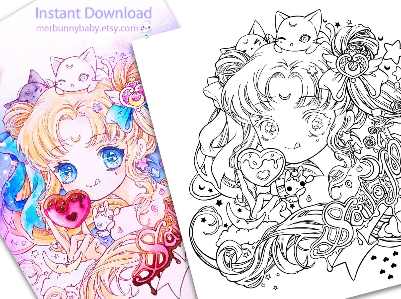 Ungewöhnlich Süße Anime Chibi Mädchen Malvorlagen Bilder - Beispiel ...