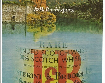 1988 Advertisement J & B Rare Scotch Fall Autumn Scotland Mill Countryside Landscape 80s Restaurant JB Bar Pub Restaurant Wall Art Decor