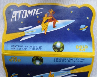 1950s ATOMIC Sewing Needle Book