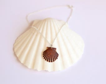 Sea Shell Necklace, Choker Necklace ,Mermaid Necklace, Silver Choker Necklace