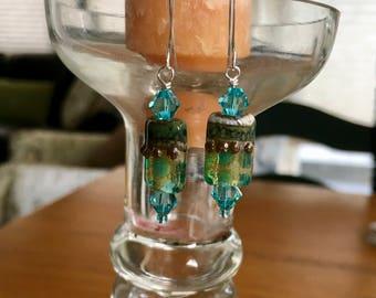 Handmade Grace Lampwork Bead Earrings