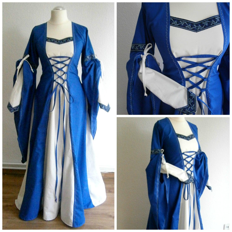 Custom Order Medieval Gown Renaissance Dress Larp And Fantasy
