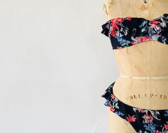 Ruffled Floral Bikini