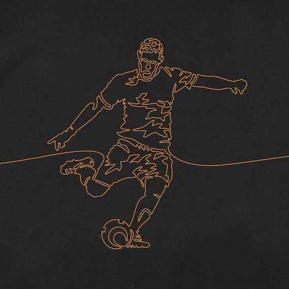 Men's Soccer T-Shirt, Men's Soccer Tee, Gift for Soccer Player, Soccer Art, Men's Graphic Tees, Cool T-Shirts, Soccer Shirt, Soccer Graphics