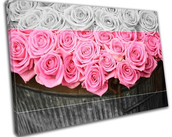 Roses Floral Flower Canvas Print Home Decor- Wall Art - Modern Prints - Ready To Hang