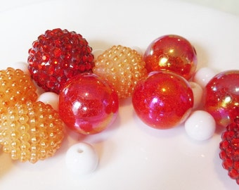 20CT. Bead Collection, 10mm beads and larger, Q21