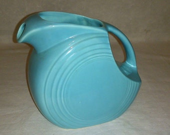 Fiesta Turquoise Disc Pitcher