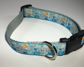 "Cinderella 1"" Large Dog Collar"