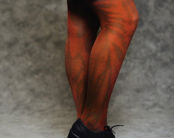 tie dye tight - olive green and orange
