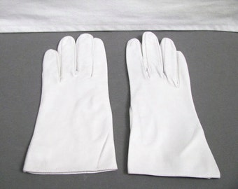 Vintage Light Grey, Women's Leather Gloves, Hammer of Hollywood