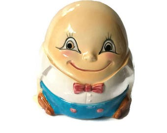 Vintage 1950's Humpty Dumpty Planter Made by Inarco From Japan, Children's Room Decor Planter, Humpty Dumpty Theme Decor
