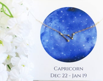 Capricorn Constellation Necklace, Capricorn Necklace, Zodiac Necklace, Zodiac Gift, Best Friend Necklace, Birthday Gift, Mother's Day Gift