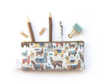 Pencil Case, Llama, Pencil Pouch, Make Up Bag, Alpaca, Small Bag, Zipper Pouch, Pouch, pencil bag, cute pencil case, organiser, small bag,