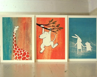 The Littlest - Set of Six Blank Note Cards