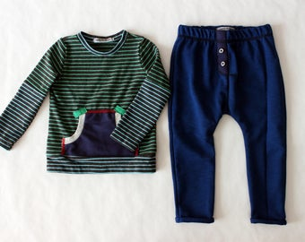 Boy clothes, boy clothing, boy clothes 2t, boy outfit, boy pullover, boys joggers, boy clothing set, sustainable clothing, made in Italy