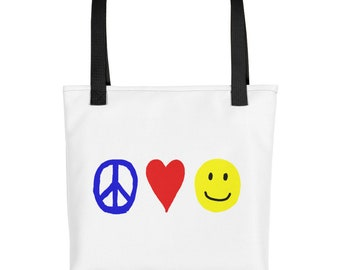 RC Peace, Love, and Happiness Tote Bag