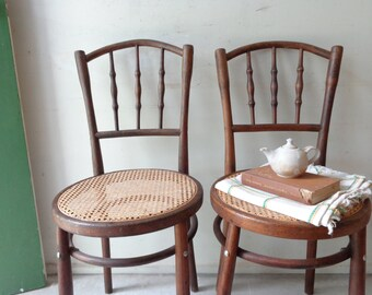 Vintage Pair of Bentwood Kitchen Dining Cafe Chairs - Pick Up Only