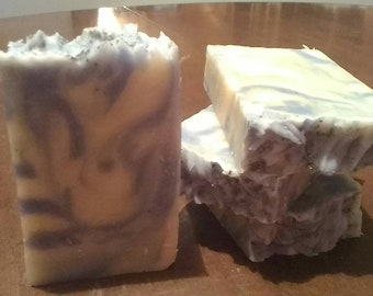 Blackberry and Sage handmade soap with goat milk.
