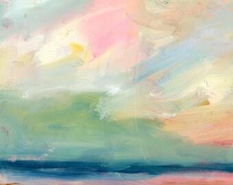 Original Landscape Painting, Abstract Landscape, modern art, square, Fine Art, bright, colorful