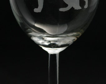 German Shepherd Wine Glass