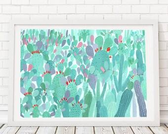 All The Cacti | Digital Print