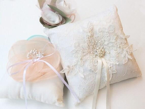 Wedding Ring Pillow Ring Bearer Pillow Wedding Pillow
