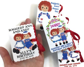 Raggedy Ann Andy Party Favors   Girl Boy Birthday   Book Themed Baby Shower Party Favor   Storybook Favor   Personalized Mini Book Custom 30