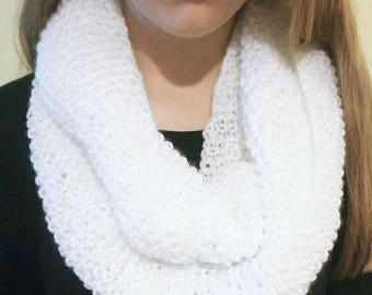 Womens Cozy Soft White Cowl