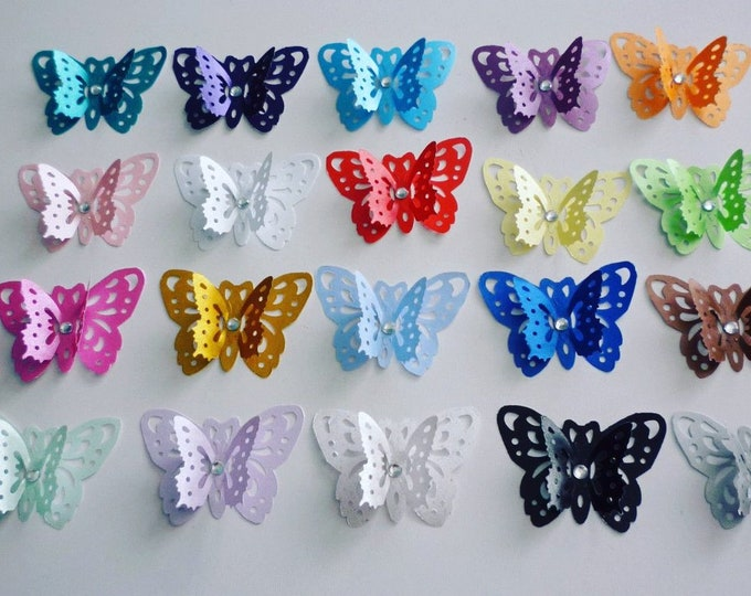 3d butterflies x 20 Table confetti Baby shower Weddings Table decor Craft embellishments