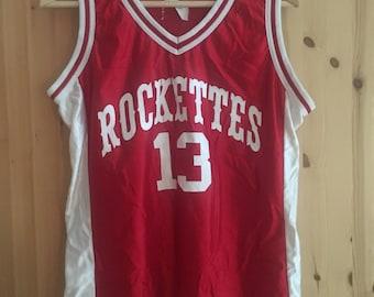 Rocketts Baseball Basketball Shirt Vintage 90er M red White