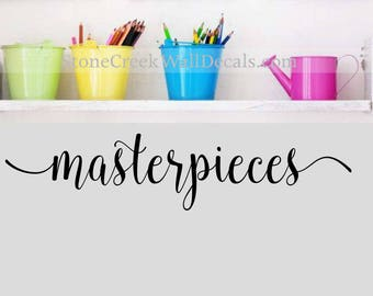 Masterpieces Wall Decal  Childrens Wall Decals  Playroom Decor  Art Display Decal  Wall Art Decal  Playroom Wall Decals  Children wall art