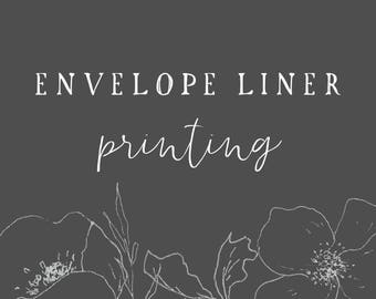 Matching Envelope Liner Printing