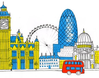London Silkscreen Print