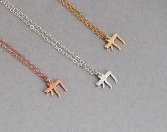 Chai Necklace, Tiny Chai Charm Necklace, Jewish Jewelry, Bat Mitzvah Gift, Jewish Necklace, Dainty Necklace, Minimalist Charm, Gold, Silver