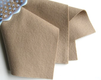 Beige Wool Felt, Pure Wool, Choose from Two Sizes, Light Brown, Tan, Felt Fabric Sheet, Applique, DIY Craft Supply, DIY Toys, Doll Making