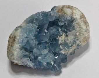 Natural Blue Celestite Crystal Specimen