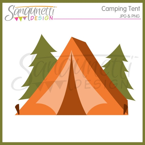 Camping Clipart Clip Art Tent Summer Instant Download From SanqunettiDesigns On Etsy Studio